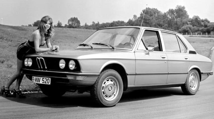 Publicité voiture ancienne BMW Serie 5