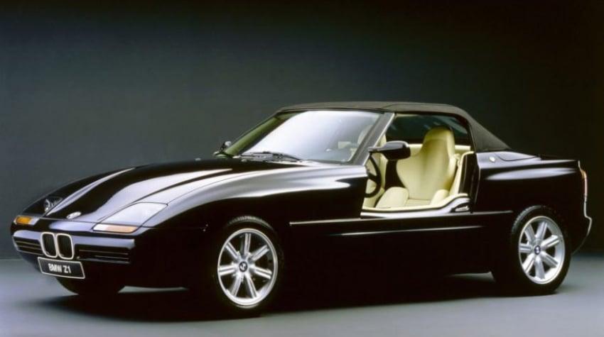 Voiture de luxe ancienne BMW Z1 noire